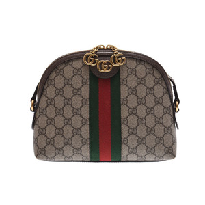 c12ef2fc003d Gucci Offidia Shelly Shoulder Bag Beige Ladies GG Supreme / Leather AB Rank  GUCCI Used Ginzo