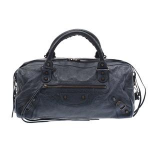 Balenciaga The Zizy Blue Ladies Leather 2WAY Bag B Rank BALENCIAGA Used Ginzo