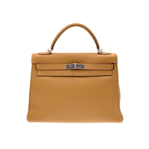 Hermes Kerry 32 Cary SV bracket □ L stamped Womens trillon Clemence 2WAY handbag A rank HERMES used Ginzo