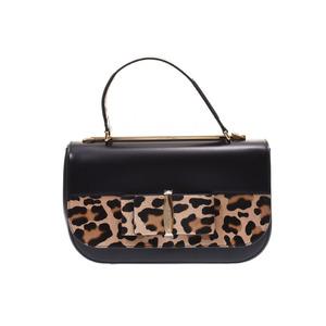 Ferragamo Linda 2WAY bag Black Ladies Calf / Harako unused beauty goods FERRAGAMO used Ginzo