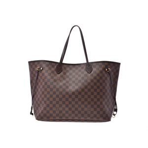 Louis Vuitton Damier Neverfull GM Old-fashioned Brown N51106 Men's Women's Genuine Leather Bag B Rank LOUIS VUITTON Used Ginzo