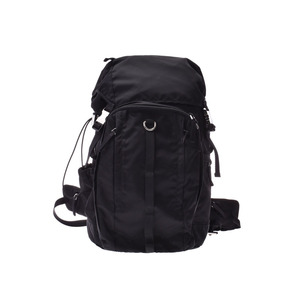 Prada bag pack black VZ0056 men's ladies' nylon rucksack A rank good product PRADA gala used Ginzo