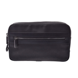 Dunhill clutch bag black men's calf nylon AB rank DUNHILL used Ginzo