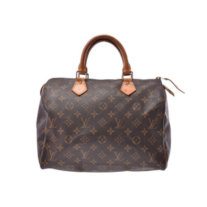 Louis Vuitton Monogram Speedy 30 Brown M41526 Ladies Genuine Leather Handbags B Rank LOUIS VUITTON Used Ginzo