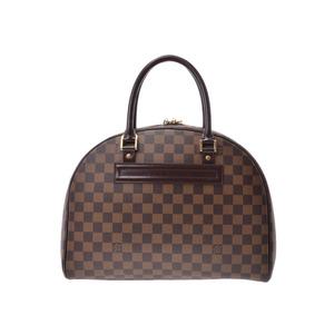 Louis Vuitton Damier Norita 24h Brown N41454 Ladies' Genuine Leather Handbag B Rank LOUIS VUITTON Used Ginzo