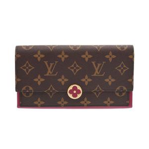 ルイ・ヴィトン(Louis Vuitton) ルイヴィトン モノグラム ポルトフォイユ フロール フューシャ M64585 レディース 本革 長財布 Aランク LOUIS VUITTON 中古 銀蔵