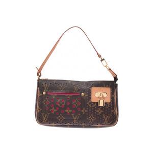 Louis Vuitton Monogram Perfo Accessory Pouch Fuchsia M95183 Womens Genuine Leather AB Rank LOUIS VUITTON Used Ginzo