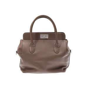 HERMES tool box 26 Etope SV metal fittings □ O engraved ladies' Swift 2WAY bag A rank good product with strap Used Ginzo
