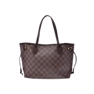 Louis Vuitton Damier Neverfull PM Brown N51109 Old Ladies Genuine Leather Bag B Rank LOUIS VUITTON Used Ginzo