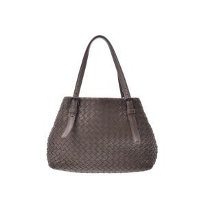 Bottega Veneta Mini Chest Bag Intrecherto Grey Khaki Ladies Men's Lambskin Tote AB Rank BOTTEGA VENETA Used Ginzo