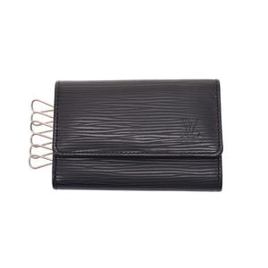 Louis Vuitton Epi 6 Series Key Case Black M63812 Men's Women's Genuine Leather AB Rank LOUIS VUITTON Used Ginzo