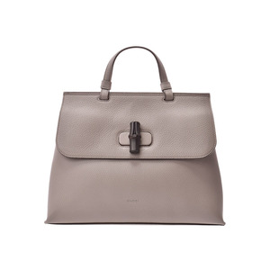 6691fef31541 Gucci Bamboo Daily Gray Women's Calf 2WAY Bag A Rank Beauty Product GUCCI  Used Ginzo