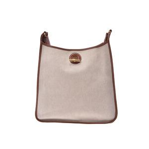 Hermes Vespa PM Gold G Bracket □ stamped Ladies Men's Canvas / Leather Shoulder bag B rank HERMES Used Ginzo