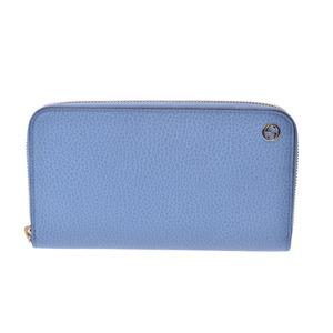 75824776fdf Gucci round zipper long wallet GG logo light blue women s men s calf outlet  unused beauty goods
