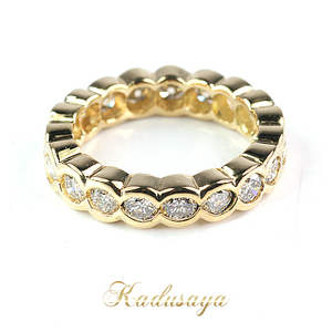 2(x)ist K18YG full eternity diamond ring 10.5 19 stone total 2.01ct finished