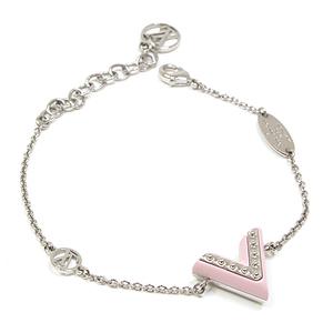 Louis Vuitton LOUIS VUITTON Bracelet · Essential V 15-19 cm M 63 185 Metal Lacquer silver light pink