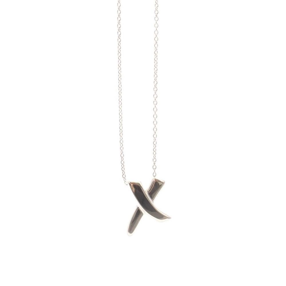 ティファニー(Tiffany) X (キス) スターリングシルバー925 レディース カジュアル ペンダントネックレス (シルバー) オンライン限定 パロマ・ピカソ グラフィティ X ペンダント スモール