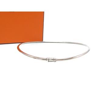 Hermes Silver Choker Necklace 925 Vintage 0021HERMES Women