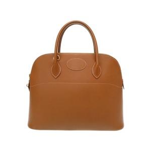 HERMES BORED 35 Cushbell Gold Handbag 0076HERMES