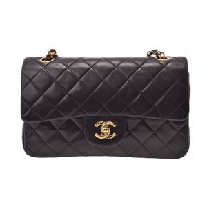 シャネル(Chanel) シャネル マトラッセ チェーンショルダーバッグ 二重蓋 黒 G金具 レディース ラムスキン Bランク CHANEL 箱 ギャラ 中古 銀蔵
