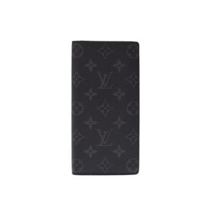 ルイ・ヴィトン(Louis Vuitton) ルイヴィトン フラグメント エクリプス ブラザ 黒 メンズ 本革 長財布 新同 美品 LOUIS VUITTON 中古 銀蔵