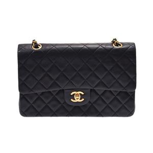 シャネル(Chanel) シャネル マトラッセ チェーンショルダーバッグ 二重蓋 黒 G金具 レディース ラムスキン ABランク CHANEL 中古 銀蔵