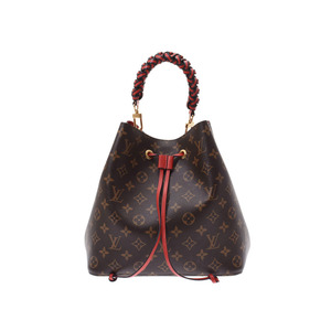 8fe437d57fe6 Louis Vuitton Monogram Neonoe Red M43985 Ladies Genuine Leather 2WAY Handbag  LOUIS VUITTON. Sale NS
