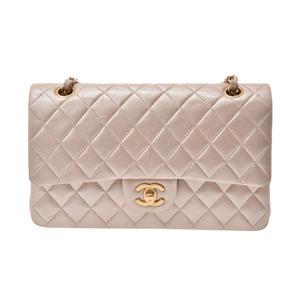 シャネル(Chanel) シャネル チェーンショルダーバッグ シャンパンゴールド/イエロー G金具 レディース ラムスキン Bランク CHANEL ギャラ 中古 銀蔵