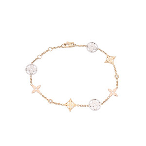 Louis Vuitton Blass Monogram Ideale Women's Three Color 2P Diamond 6.9g Bracelet A Rank Beauty Product LOUIS VUITTON Box Used Ginzo