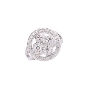 Louis Vuitton Berg Blossom GM Ring # 49 Ladies WG Diamond 6.6g LOUIS VUITTON Box Used Ginzo