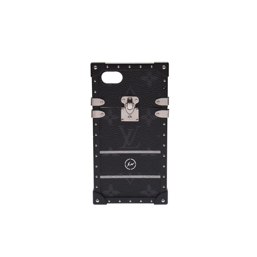 new style 251b9 ec2ff Louis Vuitton Fragment IPHONE 7 Case Black M62613 Men's Genuine Leather B  Rank LOUIS VUITTON Used Ginzo | elady.com