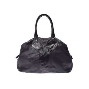Saint Laurent Easy Black G hardware ladies calf enamel handbag B rank YVES SAINT LAURENT used Ginzo