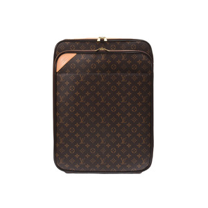 Louis Vuitton Monogram Pegas 55 Brown M23294 Men's Ladies Genuine Leather Carry Case AB Rank LOUIS VUITTON Used Ginzo