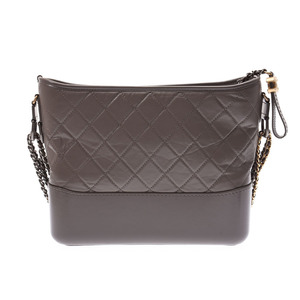 Chanel Gabriel Large Hobo Bag Gray Ladies Calf Tote A Rank Beauty Product CHANEL Box Gallery Used Ginzo