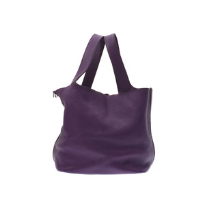 Hermes Picotan Lock TGM Ultra Violet SV Bracket □ O Engraved Ladies Trillon Clemente Handbag AB Rank HERMES Used Silver Storage