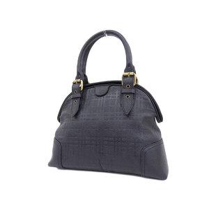 BURBERRY Burberry check embossed leather handbag black [20190329]