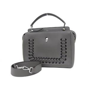 FENDI Fendi dot com 2way handbag shoulder leather gray tope [20190315]