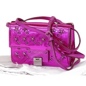 Jimmy Choo Patent Leather Shoulder Bag Pink