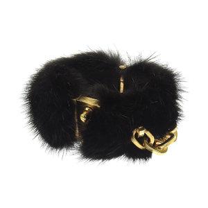 LOUIS VUITTON Louis Vuitton chain decoration bangle fur black gold bracelet [20190416]