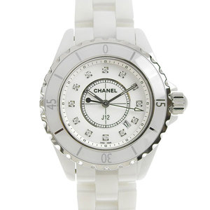 CHANEL J12 White Ceramic 12P Diamond Ladies Quartz Watch