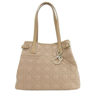 Christian Dior Lady Panarea Canard Quilted Tote Bag Beige 01-BO-0171