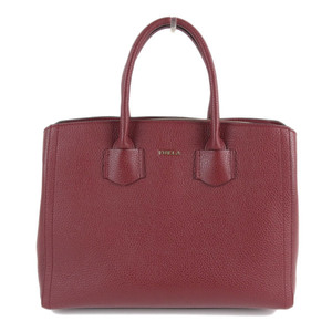 FURLA Furura Aruba Leather Handbag Red