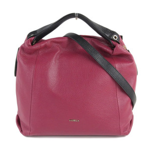 FURLA Furla Elizabeth 2WAY handbag wine red black
