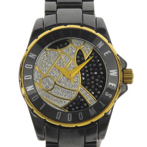 VIVIENNE WESTWOOD ヴィヴィアンウエストウッド VIVIENNE WESTWOOD ストーンオーブ レディース クオーツ 腕時計 ブラック ゴールド VV088SGDBK