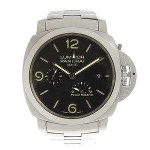 PANERAI パネライ PANERAI ルミノール1950 GMT 3デイズ パワーリザーブ メンズ オートマ 腕時計 PAM00347