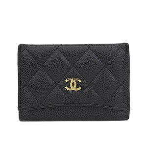 シャネル(Chanel) CHANEL シャネル CHANEL キャビアスキン ココマーク カードケース ブラック