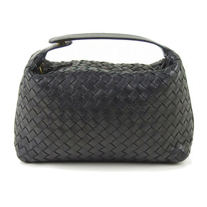 Bottega Veneta Intrecciato Leather Pouch Black * ETC