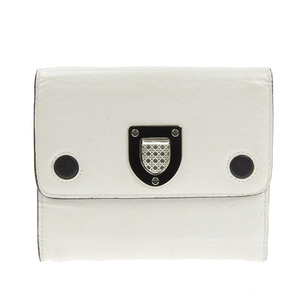 Christian Dior CHRISTIAN DIOR Folded Purse White Ladies * WL