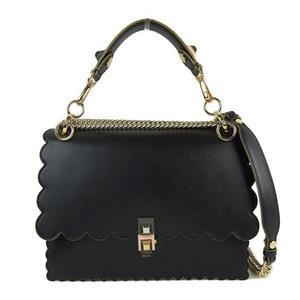 FENDI 2WAY Handbag Black Gold Hardware Women's * BG
