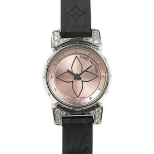 Louis Vuitton LOUIS VUITTON Pink Dial Watch Ladies * WA